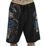 Darkness_Boardshorts_black_skull_teal_octopus_sea_swim_front_compact.jpg
